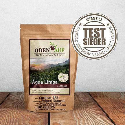 obenauf Agua Limpa Espresso Testsieger Crema